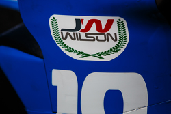 Justin Wilson tribute sticker