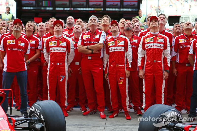 Марк Жене, Ferrari Тестовий гонщик, Кімі Райкконен, Ferrari, Мауріціо Аррівабене, Керівник Scuderia