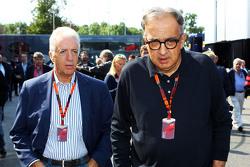 Piero Ferrari, vicepresidente de Ferrari con Sergio Marchionne, presidente de Ferrari y CEO de Fiat Chrysler
