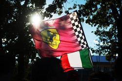 Ferrari and Italian flags