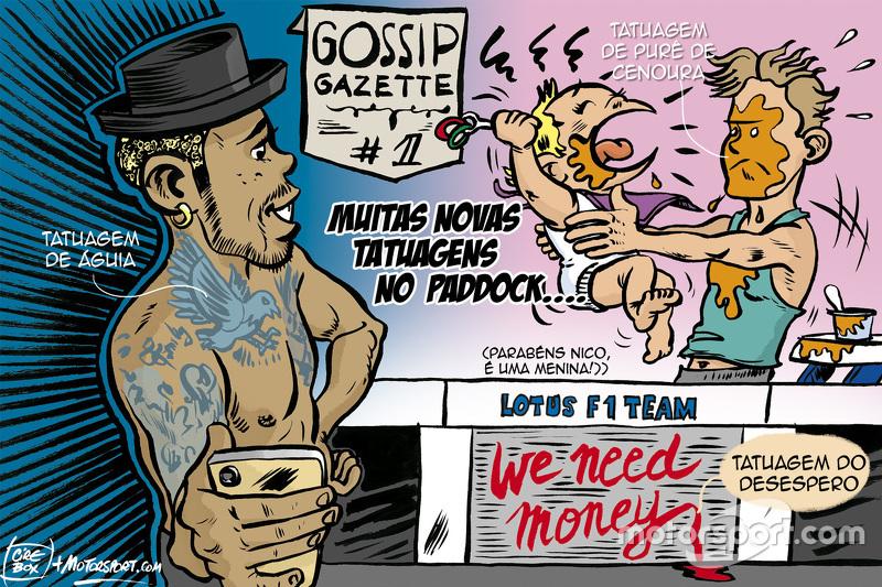 Charge: conheça novas tatuagens do paddock em Monza
