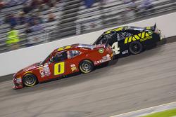 Harrison Rhodes, JD Motorsports Chevrolet and Cale Conley, TriStar Motorsports Toyota