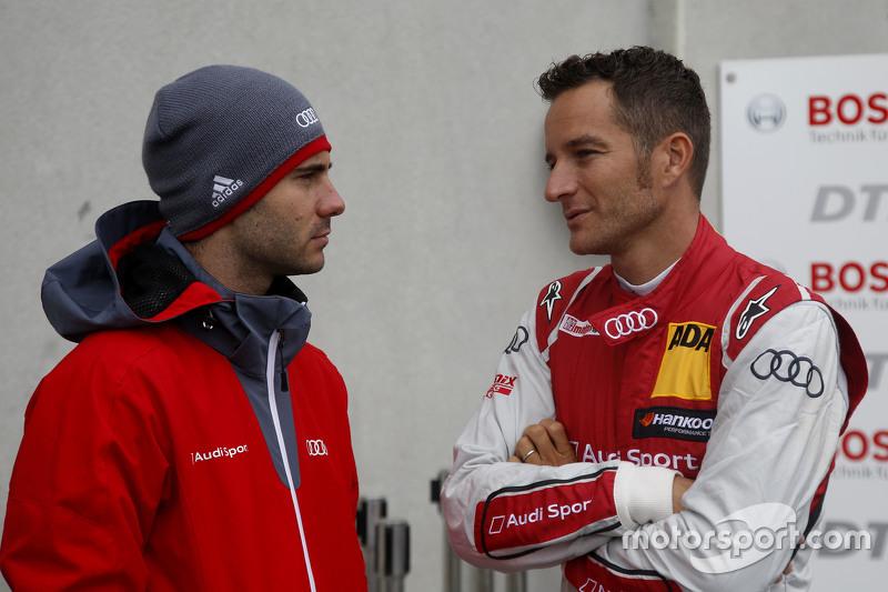 Miguel Molina, Audi Sport Team Abt Audi RS 5 DTM and Timo Scheider, Audi Sport Team Phoenix Audi RS 5 DTM