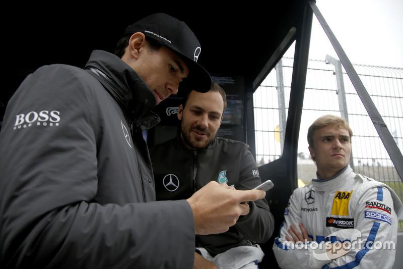 Robert Wickens, HWA AG, Mercedes-AMG C63 DTM; Gary Paffett, ART Grand Prix, Mercedes-AMG C63 DTM; Lu