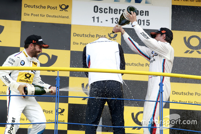 Podium: Winner Timo Glock, BMW Team MTEK BMW M3 DTM and Bruno Spengler, BMW Team MTEK BMW M4 DTM with Ernest Knoors, BMW Team MTEK