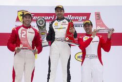 Podio Trofeo Pirelli Am: vince la Ferrari #8 di Ft. Lauderdale Ferrari 458