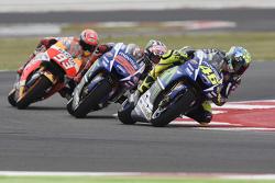 Valentino Rossi and Jorge Lorenzo, Yamaha Factory Racing and Marc Marquez, Repsol Honda Team