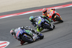 Jorge Lorenzo and Valentino Rossi, Yamaha Factory Racing and Marc Marquez, Repsol Honda Team