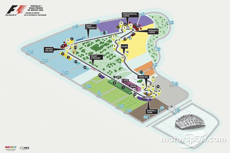 Autodromo Hermanos Rodriguez in kaart
