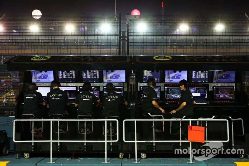 Lotus F1 Team, Kommandostand