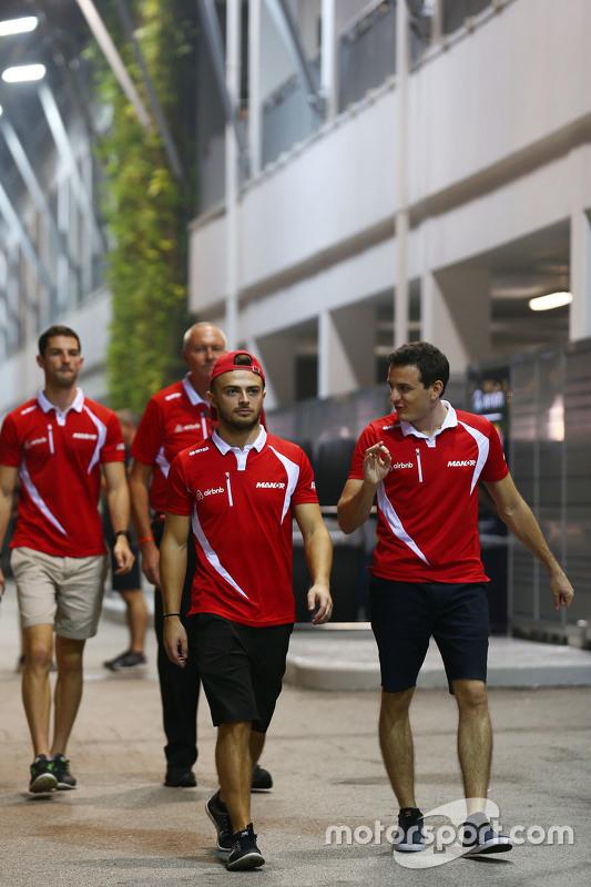 Will Stevens, Manor Marussia F1 Team with Fabio Leimer, Manor Marussia F1 Team Test and Reserve Driver