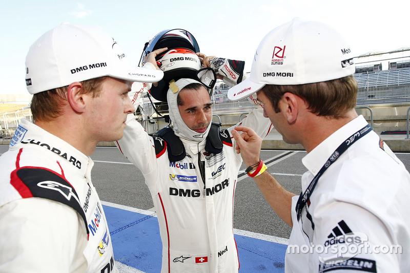 Polesitter: Marc Lieb, Neel Jani und Romain Dumas, Porsche Team