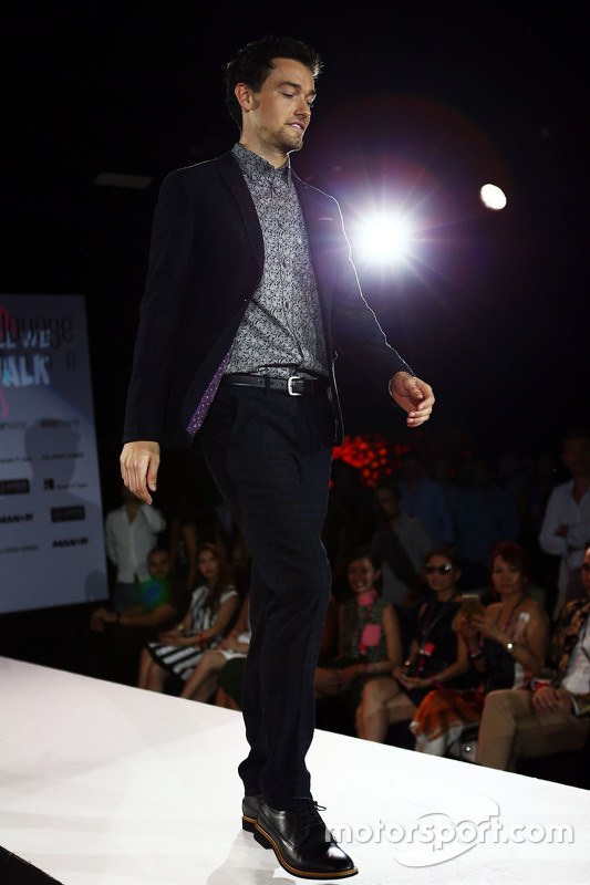 Jolyon Palmer, Lotus F1 Team Test and Reserve Driver at the Amber Lounge Fashion Show
