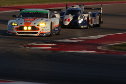 #98 Aston Martin Racing Aston Martin Vantage GTE: Paul Dalla Lana, Pedro Lamy, Mathias Lauda; #1 Toyota Racing Toyota TS040 Hybrid: Sébastien Buemi, Anthony Davidson, Kazuki Nakajima