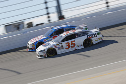 Cole Whitt, Front Row Motorsports Ford and Brian Scott, Richard Childress Racing Chevrolet