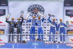 Prototypen-Podium: 1. #01 Chip Ganassi Racing Ford/Riley: Scott Pruett, Joey Hand; 2. #10 Wayne Taylor Racing Corvette DP: Ricky Taylor, Jordan Taylor; 3. #90 VisitFlorida.com Racing Corvette DP: Richard Westbrook, Michael Valiante