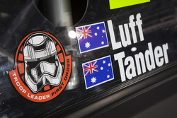 Star Wars en el auto del equipo Holden Racing