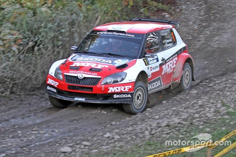 Pontus Tidemand and Emil Axelsson, Skoda Fabia S2000, Team MRF