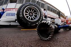 BMW Sauber F1 Team, wheel but gun