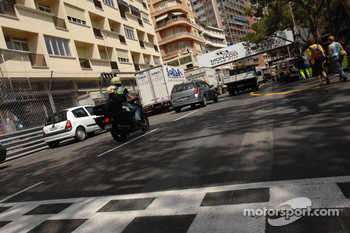 Monte Carlo track surface was damaged by fire