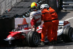 Ralf Schumacher, Toyota Racing crashes