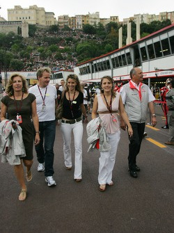Gordon Ramsay, Famous Chef with his wife Cayetana with Ron Dennis, McLaren, Team Principal, Chairman and his daughter and wife Lisa