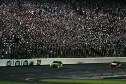Casey Mears takes the checkered flag