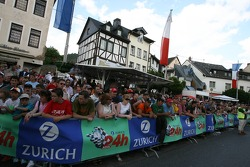 Fans at the Adenau racing day