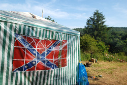 The Confederate flag near the Karussell
