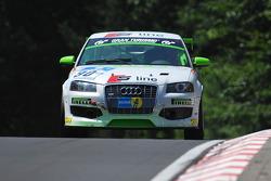 #90 Pirelli Competizioni Audi A3: Дирк Мёллер-Зонтаг, Ханс-Мартин Гасс, Роланд Вашкау, Рене Раст