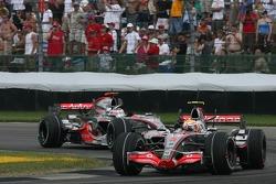 Lewis Hamilton lideró un doblete de McLaren en el GP de Estados Unidos 2007 por delante de Alonso