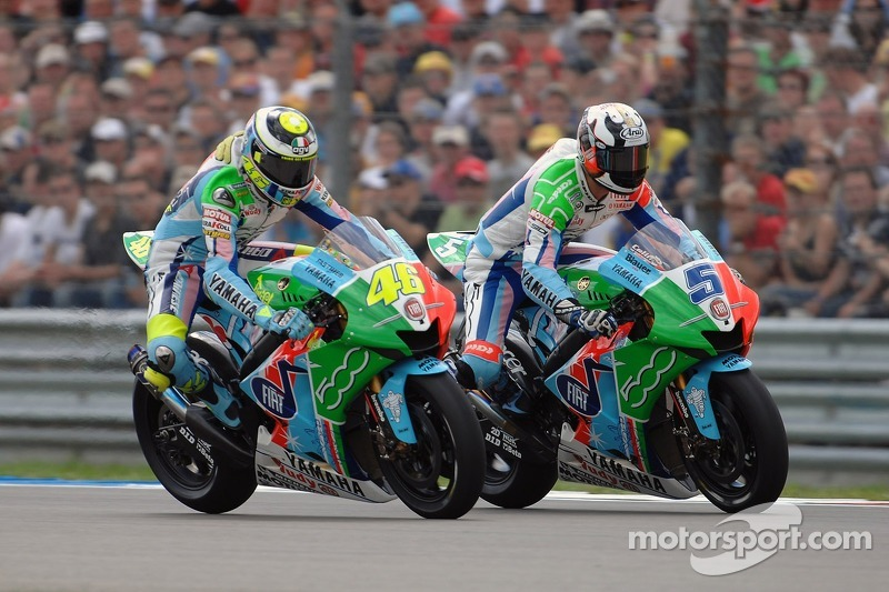 Valentino Rossi et Colin Edwards (Fiat Yamaha) - GP des Pays-Bas 2007