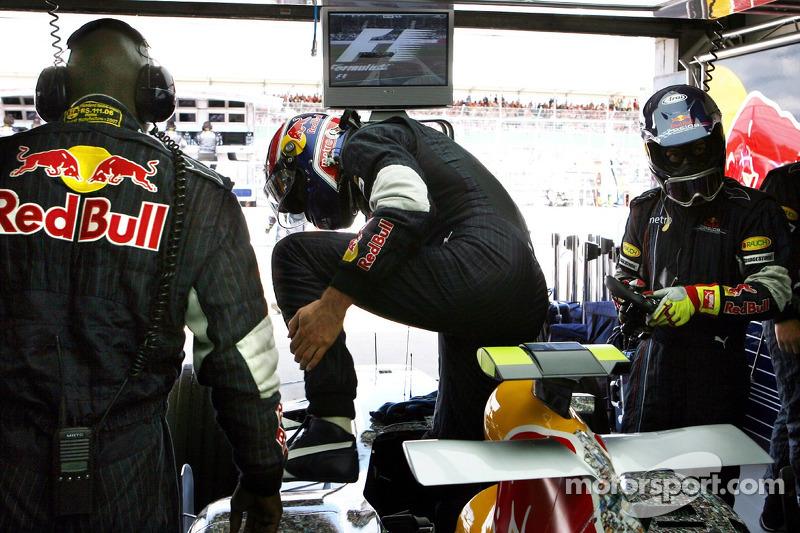 Mark Webber, Red Bull Racing, durante la carrera