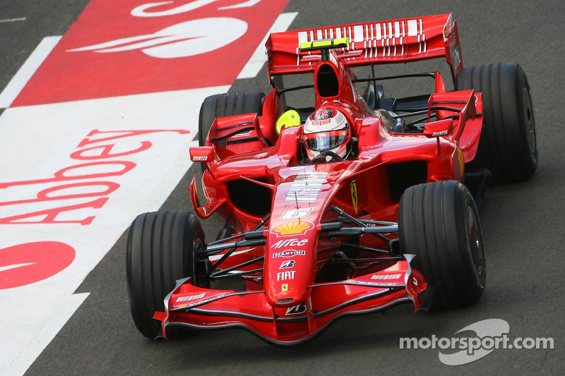 Ganador del Gran Premio de Gran Bretaña de F1 2007: Kimi Raikkonen, (Scuderia Ferrari F2007)