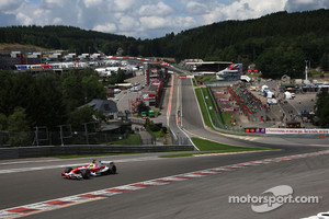 The difference in height at Eau Rouge