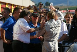 Norbert Haug, Sporting Director Mercedes-Benz with Mika Hakkinen, Team HWA AMG Mercedes