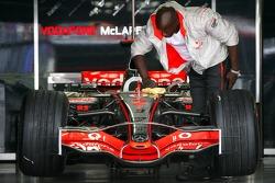 McLaren Mercedes team member at work