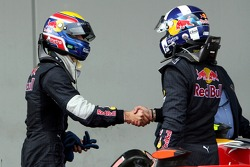 3. Mark Webber, Red Bull Racing, mit David Coulthard, Red Bull Racing
