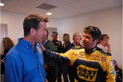 Jeff Green with actor and Allstate 400 at the Brickyard Grand Marshall James Denton