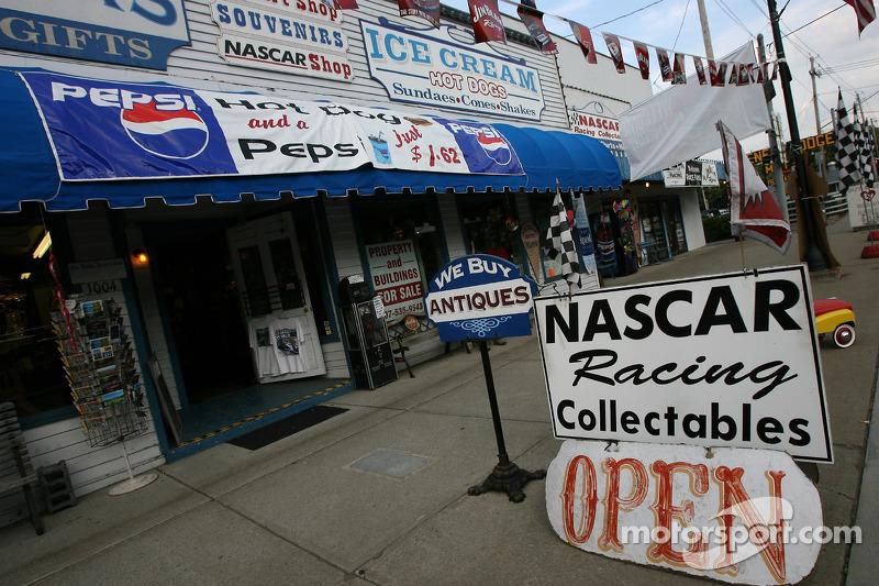 Memorabilia store in downtown Watkins Glen