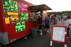 Food stand at the Watkins Glen fan fest
