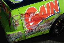 Damage on the car of Alex Tagliani