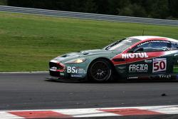 Bus stop: #50 Amr Larbre Competition Aston Martin DBR9: Christophe Bouchut, Gabriel Gardel, Fabrizio Gollin