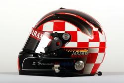 Satrio Hermanto, driver of A1 Team Indonesia, helmet