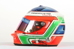 Paolo Bossini, driver of A1 Team Italy, helmet