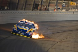 Michael Waltrip blows up