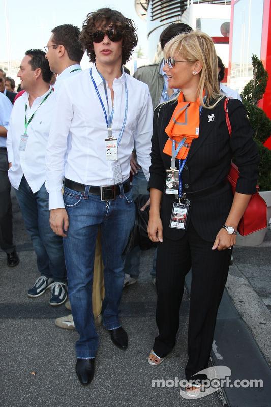 Son of Piero Lardi Ferrari, 10% owner of the Ferrari automotive company at Italian GP