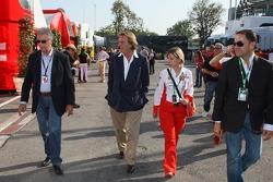 Piero Lardi Ferrari Son of Enzo Ferrari and 10% owner of the Ferrari automotive company and Luca di Montezemolo, Scuderia Ferrari, FIAT Chairman and President of Ferrari