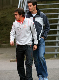 Fernando Alonso, McLaren Mercedes, Mark Webber, Red Bull Racing