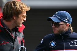 Jenson Button, Honda Racing F1 Team, Nick Heidfeld, BMW Sauber F1 Team